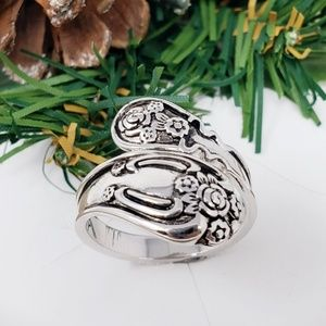 New!! Sterling Silver Flower Blossoms Spoon Ring